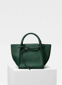 Celine Dark Green Small Big Bag with Long Strap