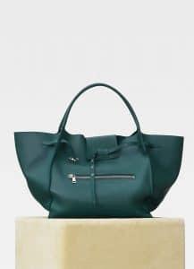 Celine Dark Green Soft Bare Calfskin Large Big Bag