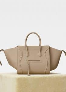 Celine Dune Baby Grained Calfskin Medium Luggage Phantom Bag