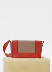 Celine Fox Red/Tan Medium Frame Bag