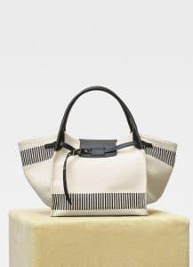 Celine Natural Textured Canvas Medium Big Bag