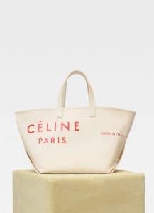 99367af4f Celine Natural/Red Textile Medium Made In Tote Bag. Celine Dark Green Soft  Bare Calfskin Medium Big Bag. Celine Apricot/Navy Multicolour Baby Grained  ...