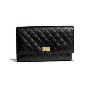 Chanel Black Aged Calfskin Reissue Clutch Bag