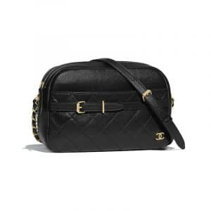 Chanel Black Calfskin Large Camera Case Bag