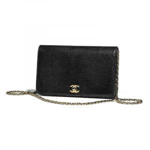 Chanel Black Lizard Mini Flap Bag