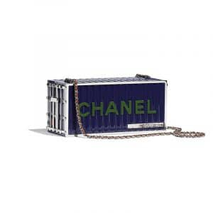 Chanel Blue Evening In Hamburg Minaudiere Bag