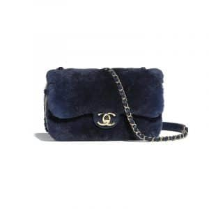 Chanel Blue Orylag/Lambskin Mini Flap Bag