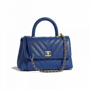 Chanel Blue Small Coco Handle Bag