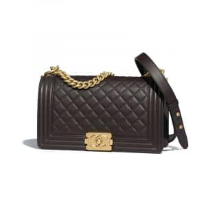 Chanel Brown Quilted Old Medium Boy Flap Bag