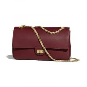 Chanel Burgundy 2.55 Reissue Nude Size 226 Bag