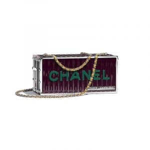Chanel Burgundy Evening In Hamburg Minaudiere Bag
