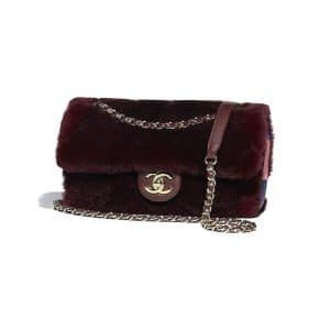 Chanel Burgundy Orylag/Lambskin Flap Bag