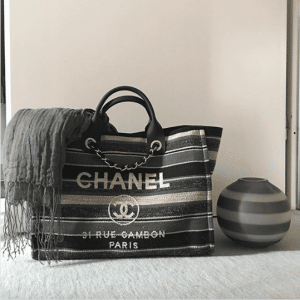 Chanel Canvas Deauville Shopping Bag
