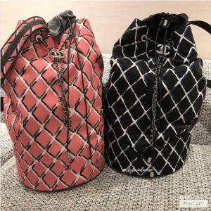 Chanel Coco Beach Drawstring Bags