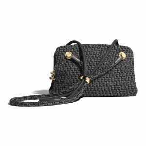 Chanel Gray Tweed Small Shopping Bag