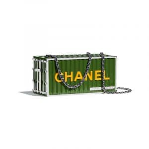 Chanel Green Evening In Hamburg Minaudiere Bag