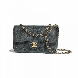 Chanel Green Lizard Mini Flap Bag