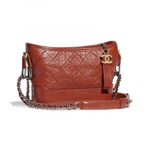 Chanel Rust Aged Calfskin Gabrielle Small Hobo Bag