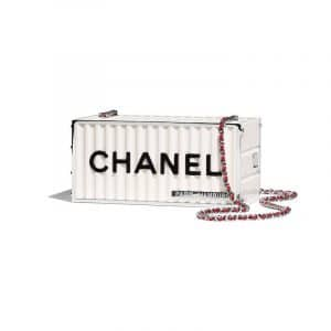Chanel White Evening In Hamburg Minaudiere Bag