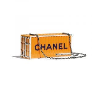 Chanel Yellow Evening In Hamburg Minaudiere Bag