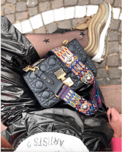 Dior Black Dioraddict with Bohemian Multicolor Strap