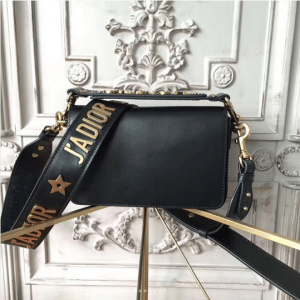 Dior Black J'adior with Logo Embellished Strap