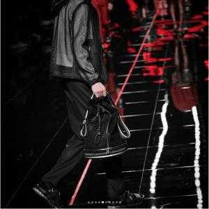 Fendi Black FF Bucket Bag - Spring 2019