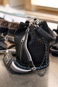 Fendi Black FF Mini Bucket Bag - Spring 2019