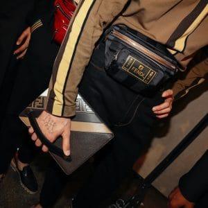 Fendi Black Pequin Belt Bag and Clutch Bag - Spring 2019