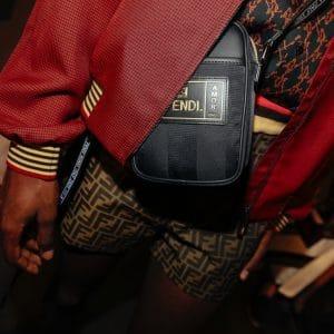 Fendi Black Pequin Mini Messenger Bag - Spring 2019