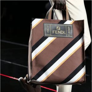 Fendi Brown Striped Tote Bag 2 - Spring 2019