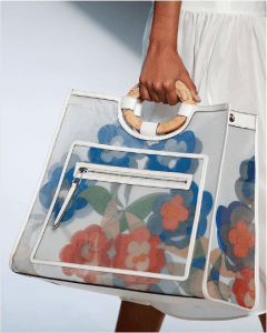 Fendi Floral Mesh Runaway Shopper Bag