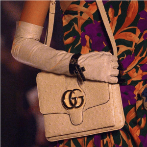 Gucci Beige Ostrich Flap Bag - Cruise 2019