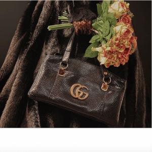 Gucci Black Python Top Handle Bag - Cruise 2019