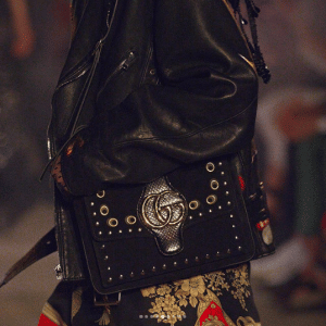 Gucci Black Studded Flap Bag - Cruise 2019