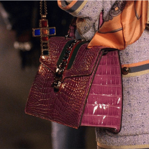 Gucci Purple Crocodile Sylvie Bag - Cruise 2019