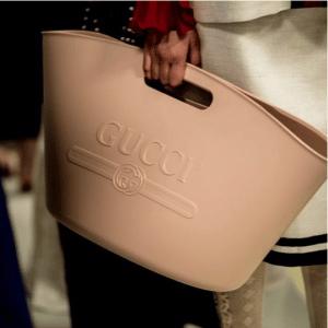 Gucci Rubber Logo Top Handle Tote Bag