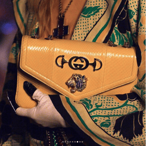 Gucci Yellow Python Shoulder Bag - Cruise 2019