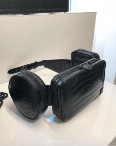 Louis Vuitton Black Crocodile Belt Bag - Spring 2019