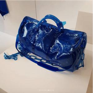 Louis Vuitton Blue Monogram Keepall Bag - Spring 2019