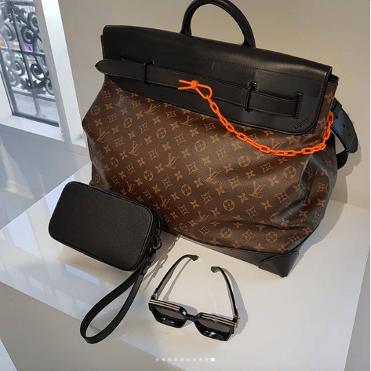 b03aa68d5d16 Louis Vuitton Monogram Canvas Steamer and Black Monogram Clutch Bag - Spring  2019. IG   hedonists