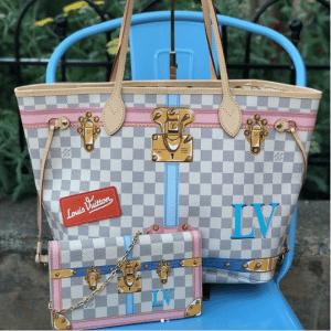 Louis Vuitton Neverfull Summer Trunks Tote Bag