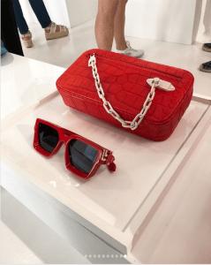 Louis Vuitton Red Crocodile Clutch Bag - Spring 2019