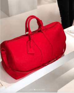 Louis Vuitton Red Monogram Keepall Bag - Spring 2019
