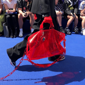 Louis Vuitton Red Transparent Keepall Bag - Spring 2019