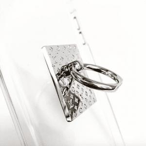 Louis Vuitton Silver Nanogram Phone Ring Holder 2