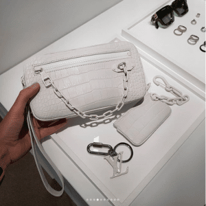 78c51320ca75 Louis Vuitton White Crocodile Clutch Bag - Spring 2019. IG   hedonists