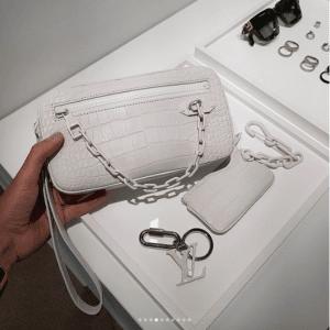 Louis Vuitton White Crocodile Clutch Bag - Spring 2019