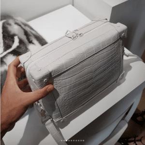 Louis Vuitton White Crocodile Soft Petite Malle Bag - Spring 2019