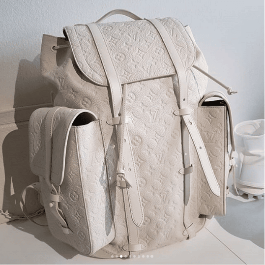 2cf7cbf46ad4 Louis Vuitton White Monogram Christopher Backpack Bag - Spring 2019. IG    hedonists